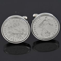 France Cufflinks half franc | World Coin Cufflinks