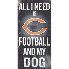 Fan Creations NFL Football and My Dog Textual Art Plaque & Reviews | Wayfair