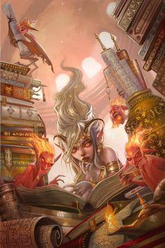 City of Brass Library by Carolina Eade