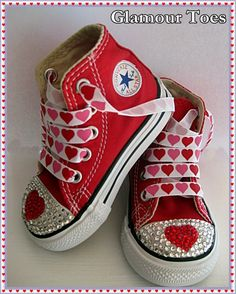 the latest 8989e dd7bd Glamour Toes heart bling converse