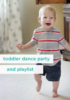 Be a Playful Parent, Have a Dance Party! Be a playful parent with this post on incorporating a toddler dance party during playtime. It includes a fun, kid-friendly music playlist to keep those little feet moving! Toddler Dance, Toddler Swag, Games For Toddlers, Toddler Activities, Indoor Activities, Dance Party Birthday, 2nd Birthday, Toddler Apps, Party Playlist