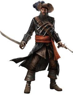 Assassin's Creed IV: Black Flag Art & Pictures Edward Teach Blackbeard