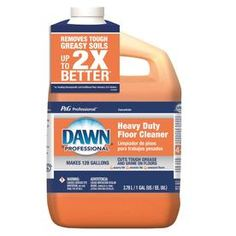 Dawn Professional Pour Bottle Liquid Floor Cleaner at Lowe's. The grease-fighting power of Dawn now for your floor. Dawn professional heavy duty floor cleaner is a versatile, multipurpose cleaner for floors, walls, Heavy Duty Floor Cleaner, Hardwood Floor Cleaner, Cleaning Laminate Wood Floors, Household Cleaning Tips, Cleaning Hacks, Cleaning Recipes, Household Cleaners, Remedies For Tooth Ache, Hydrogen Peroxide Uses