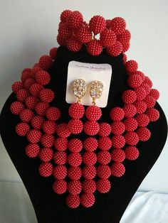 Find More Jewelry Sets Information about 2016 Fashion red african beads necklace set nigerian wedding african beads jewelry set Free shipping E 003,High Quality jewelry paypal,China jewelry india Suppliers, Cheap jewelry name from Chinese jewelry import and export co., LTD on Aliexpress.com