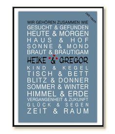 Original ZEIT-RAUM Kunstdruck-Wir gehören zusammen wie....