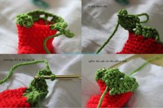 learning to write: Tutorial for the chili/elf crochet baby shoes