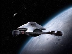 Star Trek Voyager. It's a secret, don't tell anyone, but I like Voyager NCC-74656 best of all the ships. She's a real beauty, sleek and graceful.