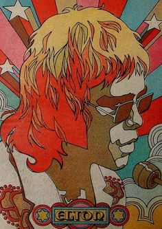 Elton John in the late 60's.