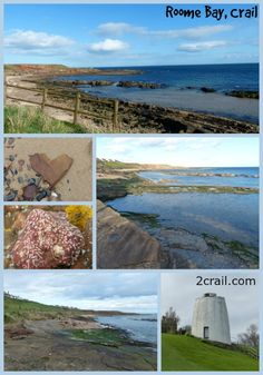 Roome Bay, Crail - find the beach path just opposite Sandcastle Cottage, Crail and spend hours searching for fossils or rockpooling at low tide.