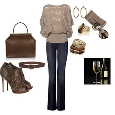 Brown and gold - classic, created by jfagala34 on Polyvore
