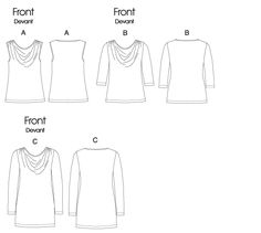 V8669 Misses' Top - Vogue (Out of Print sewing pattern for moderate stretch knits, dress sizes 8-14 and 16-22)
