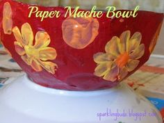 Paper Mâche Bowl. Can be easily done by kids. Would make a perfect gift!