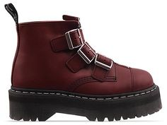 Agyness Deyn X Dr. Martens Aggy Strap in Cherry Red Rouge at Solestruck.com #STANDFORSOMETHING