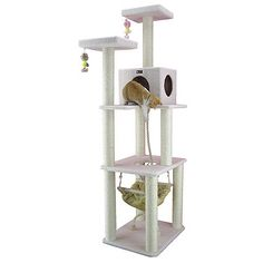 Armarkat White Fleece Cat Tree at Lowe's. Treat your cats and kittens to the Armarkat model classic cat tree. Cat daddy approved by noted cat behaviorist Jackson galaxy, this ivory cat tree Cat Tree House, Cat Tree Condo, Cat Condo, Furniture Scratches, Cat Perch, Tree Furniture, Wood Post, Cat Scratcher, Unique Cats