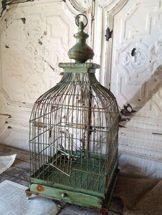 Vintage Style Petite Metal French Birdcage ~Wedding Decor~Home Decor  #UNBRANDED