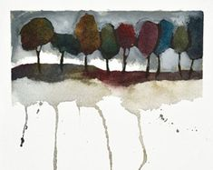 Print of Original Watercolor Painting//Painting of Trees//pair of paintings//Abstract Tree art//squares//Contemporary Landscape//Edie Fagan