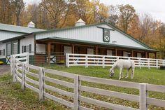 Morton Buildings horse barn in Michigan.