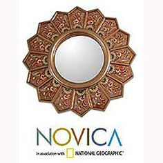 @Overstock - Lovely decorative accessory is shaped like an open fan  Yellow daisies grace this mirror with glowing colors  Edmundo Contreras creates a beautiful cedar mirror with a contemporary feelhttp://www.overstock.com/Worldstock-Fair-Trade/Daisy-Fan-Cedar-Mirror-Peru/4068332/product.html?CID=214117 $83.99
