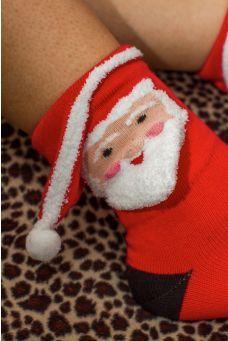 Santa 3-D Socks