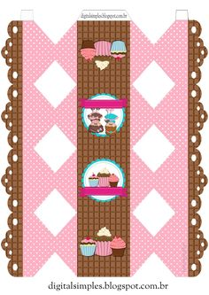 Craft Presents, Paper Box Template, Bakery Logo Design, Party Sweets, Cake Logo, Bottle Cap Images, Cute Box, Lol Dolls, Chocolate Bis