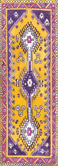 Magic Carpet Yoga Mats | Amethyst Traditional Magic Carpet Yoga Mat