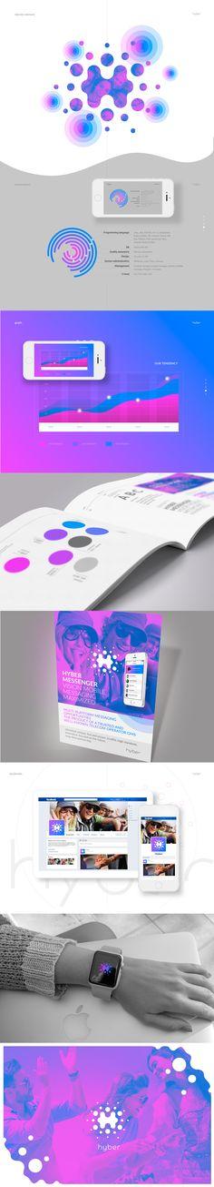 Development of identity and logo for the multi-platform messaging Design Logo, Resume Design, Brand Identity Design, Corporate Design, App Design, Branding Design, Design Ideas, Interface Web, Interface Design