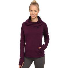 Nike Tech Fleece Hoodie (Mulberry/Heather/Black) Women's Sweatshirt ($78) ❤ liked on Polyvore featuring tops, hoodies, red, thumb hole hoodie, hoodies pullover, funnel hoodie, pullover hoodie and funnel neck pullover hoodie