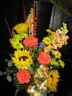 fall vased arrangement