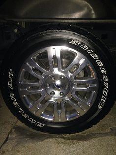 F150 Platinum 20's wrapped in 275/55/20 OWL Bridgestone Dueller Revo II's