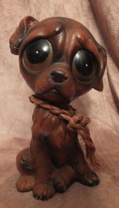 Vintage Enesco Sad Big Eyed Puppy Dog by MoonbearConnections