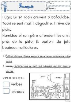 Faire de la grammaire au CP avec Taoki - Le petit cartable de Sanleane Grade 3, Comprehension, Worksheets, Language, Classroom, Teaching, Activities, School, Cycle 2
