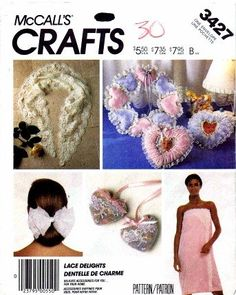 Amazon.com: McCall's 3427 Sewing Pattern Crafts Bath Wrap Pillows Hair Bows Sachets: Home & Kitchen