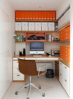 5 space-saving tips & techniques for the small office #interiordesign #decor #interiordecoration