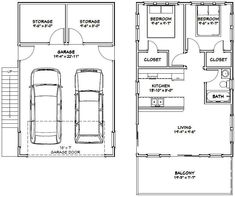 PDF house plans, garage plans, & shed plans. Planning To Build A Shed? Now You Can Build ANY Shed In A Weekend Even If You've Zero Woodworking Experience! Start building amazing sheds the easier way with a collection of shed plans! Plan Garage, Garage House Plans, Small House Plans, House Floor Plans, House 2, Tiny House, Small Houses, Garage Apartment Plans, Garage Apartments