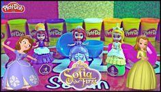 Disney Sofia - Princess Sofia & Princess Amber Playdoh Surprise Eggs Toys