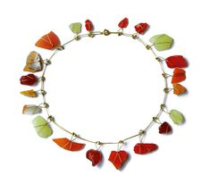 The World as a Composition Marianne Schliwinski Necklace: Il faro di Murano, 1997-1998 Venetian found glass, 750 gold