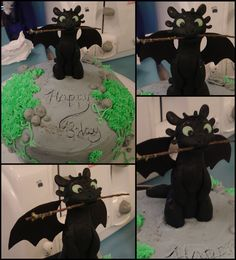 Toothless Birthday Cake by CherryGluestick.deviantart.com on @deviantART