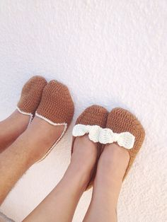 FREE SHiPPiNG Brown 2 pairs home slippers man and by NesrinArt, $42.00