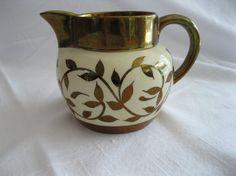 Copper lustreware pitcher