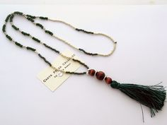 Necklace with tassels, boho chic Carta Pezza e Calamaio by Piera Romeo