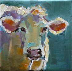 """easter cow"" - Original Fine Art for Sale - © Carol Carmichael"