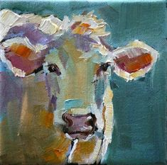 """easter cow"" - Original Fine Art for Sale - © Carol Carmichael #Animals #KRfav"