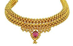 Imitation Gold Plated Traditional Kolhapuri Necklace - Gold Bead Broad Thushi / AZMKN1010-GLD  Price : $55.00 http://www.arrascreations.com/Imitation-Plated-Traditional-Kolhapuri-Necklace/dp/B00RPYORIK