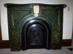 1870 Second Empire, Waterloo, New York-beautiful fireplace