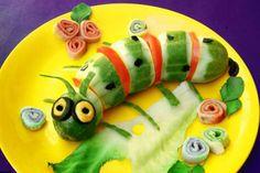 Un piccolo bruco di verdura per i tuoi bambini :)