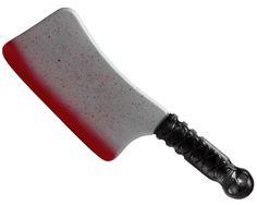 Machete ensangrentado: Este machete ensangrentado es de plástico y mide aproximadamente 38 x 10 cm. Tiene el mango de color negro con reflejos plateados. En él se aprecia el dibujo de una calavera.La...