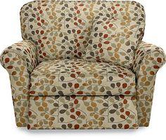 Jenna La-Z-Time® Reclining Chair  by La-Z-Boy- same fabric, cozier looking chair...