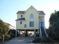Holden Beach, NC - It's 5 O'clo Ck Somewhere 579 a 4 Bedroom Oceanfront Rental House in Holden Beach, part of the Brunswick Beaches of North Carolina. Includes Private Pool, Hi-Speed Internet