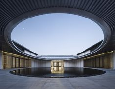 Weihai Hospital of Traditional Chinese Medicine / GLA Location Hudong Road, Huancui District, Weihai, ShanDong, China Building of the Year 2019 Healthcare Architecture Winner Healthcare Architecture, Hospital Architecture, Cultural Architecture, Chinese Architecture, Interior Architecture, Patio Chino, Patio Circular, Modern Hospital, Call For Entry