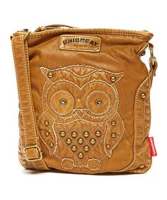 5fde4db966 Another great find on  zulily! Taupe Stud Owl Crossbody Bag  zulilyfinds T  Shirt